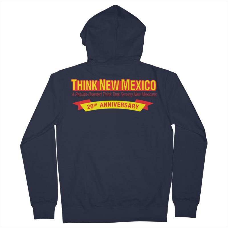 20th Anniversary Yellow No State Men's French Terry Zip-Up Hoody by Think New Mexico's Artist Shop