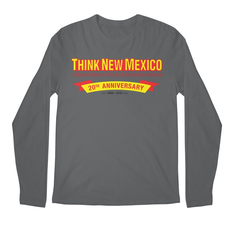 20th Anniversary Yellow No State Men's Longsleeve T-Shirt by Think New Mexico's Artist Shop