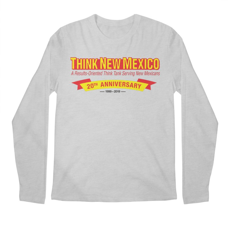 20th Anniversary Yellow No State Men's Regular Longsleeve T-Shirt by Think New Mexico's Artist Shop