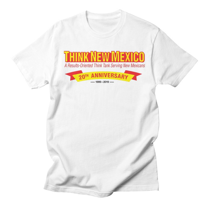 20th Anniversary Yellow No State Men's Regular T-Shirt by Think New Mexico's Artist Shop