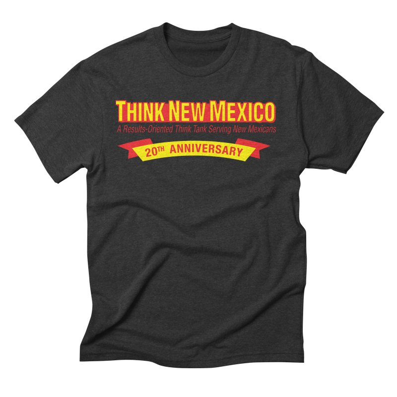 20th Anniversary Yellow No State Men's Triblend T-Shirt by Think New Mexico's Artist Shop