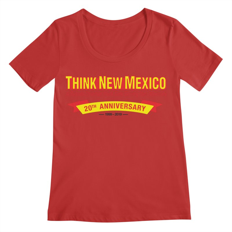 20th Anniversary Yellow No State Women's Regular Scoop Neck by Think New Mexico's Artist Shop