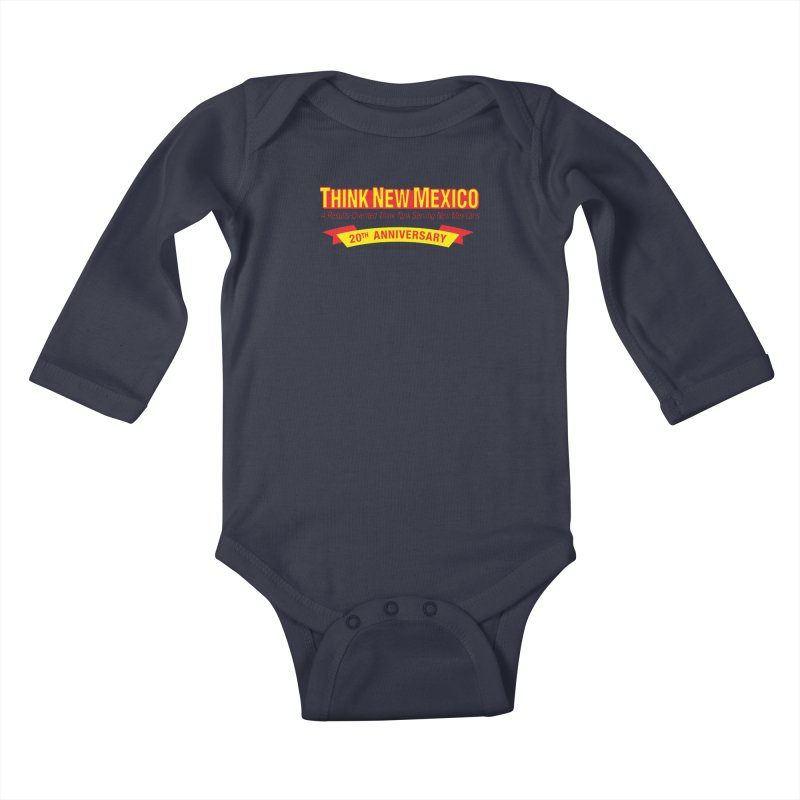 20th Anniversary Yellow No State Kids Baby Longsleeve Bodysuit by Think New Mexico's Artist Shop