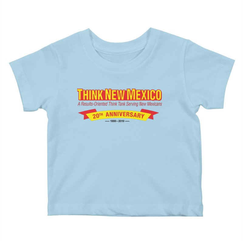 20th Anniversary Yellow No State Kids Baby T-Shirt by Think New Mexico's Artist Shop