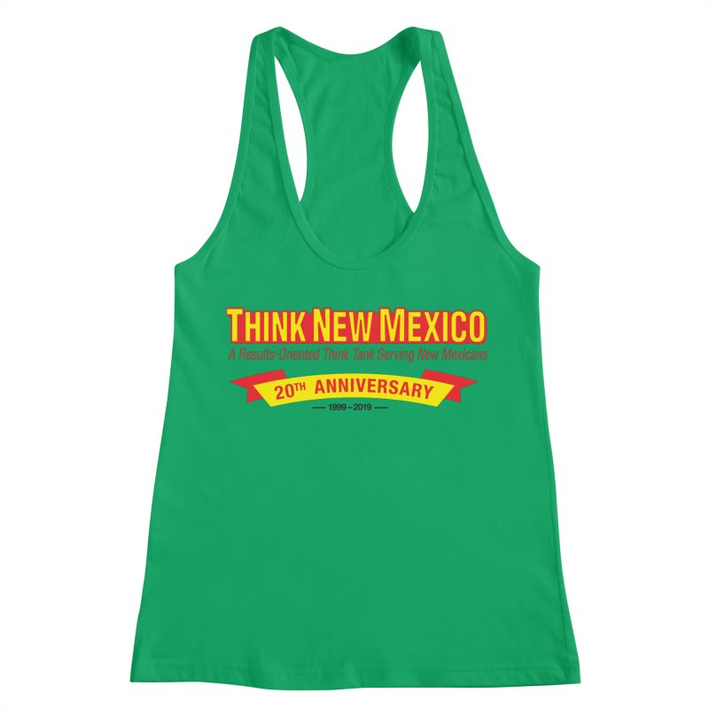 20th Anniversary Yellow No State Women's Racerback Tank by Think New Mexico's Artist Shop