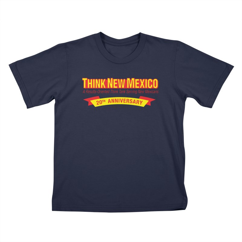 20th Anniversary Yellow No State Kids T-Shirt by Think New Mexico's Artist Shop