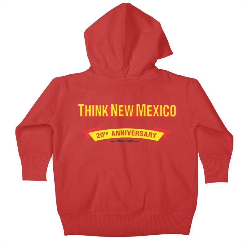 20th Anniversary Yellow No State Kids Baby Zip-Up Hoody by Think New Mexico's Artist Shop