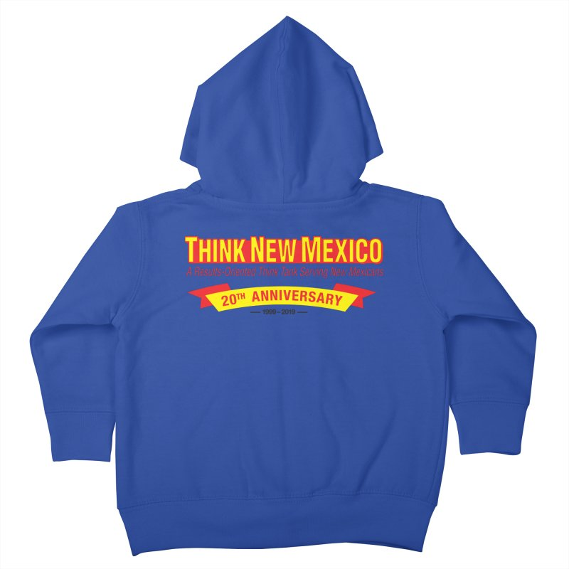 20th Anniversary Yellow No State Kids Toddler Zip-Up Hoody by Think New Mexico's Artist Shop