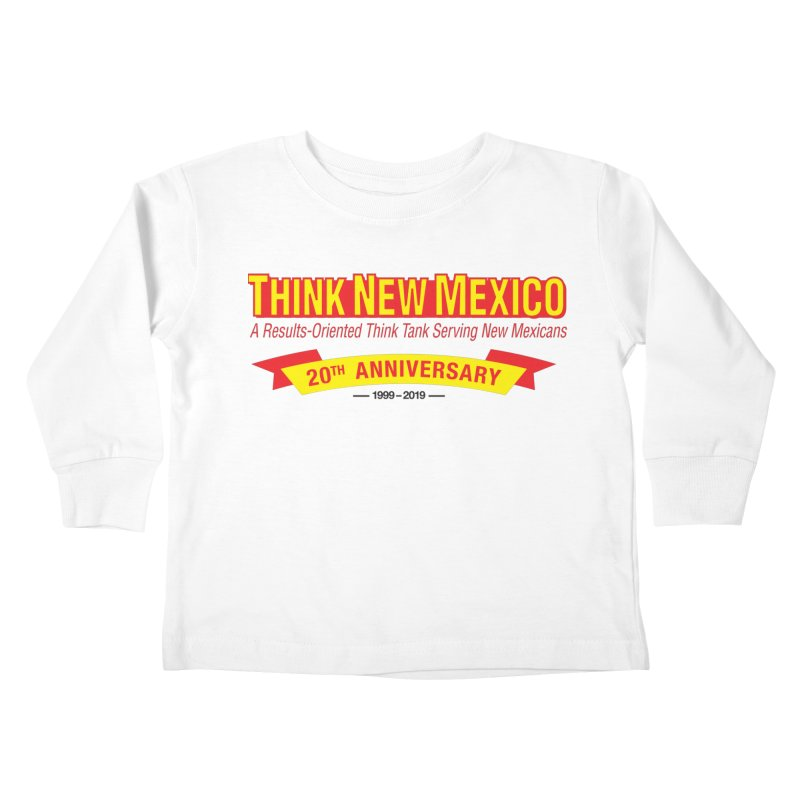 20th Anniversary Yellow No State Kids Toddler Longsleeve T-Shirt by Think New Mexico's Artist Shop