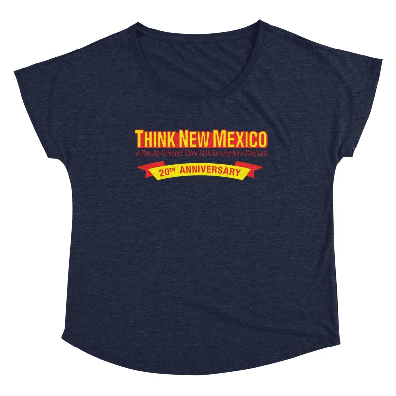 20th Anniversary Yellow No State Women's Dolman Scoop Neck by Think New Mexico's Artist Shop