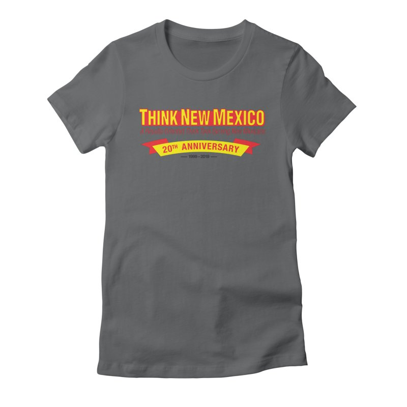 20th Anniversary Yellow No State Women's Fitted T-Shirt by Think New Mexico's Artist Shop
