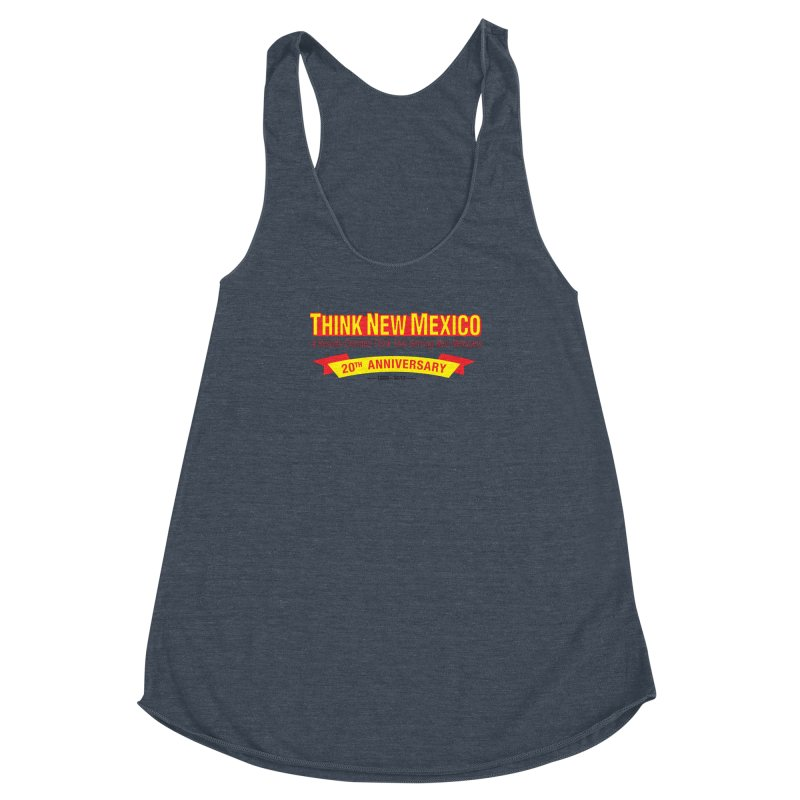 20th Anniversary Yellow No State Women's Racerback Triblend Tank by Think New Mexico's Artist Shop