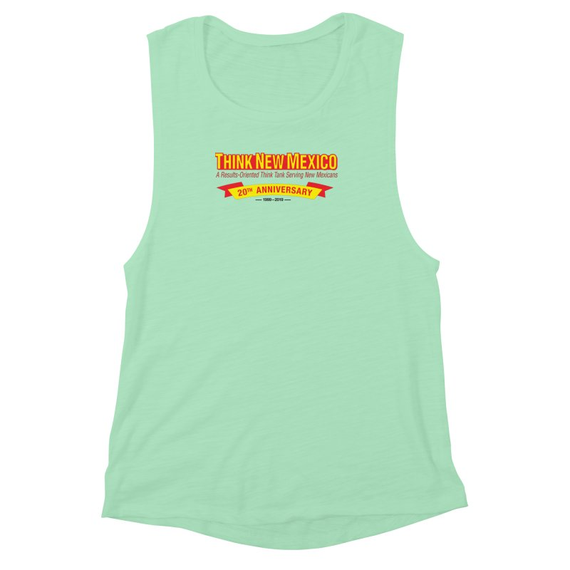 20th Anniversary Yellow No State Women's Muscle Tank by Think New Mexico's Artist Shop