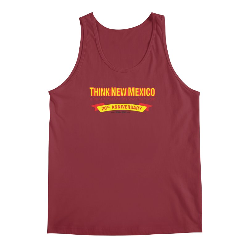 20th Anniversary Yellow No State Men's Regular Tank by Think New Mexico's Artist Shop