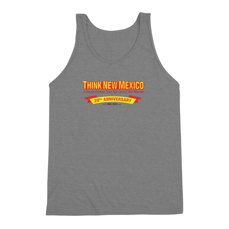 20th Anniversary Yellow No State Men's Triblend Tank by Think New Mexico's Artist Shop