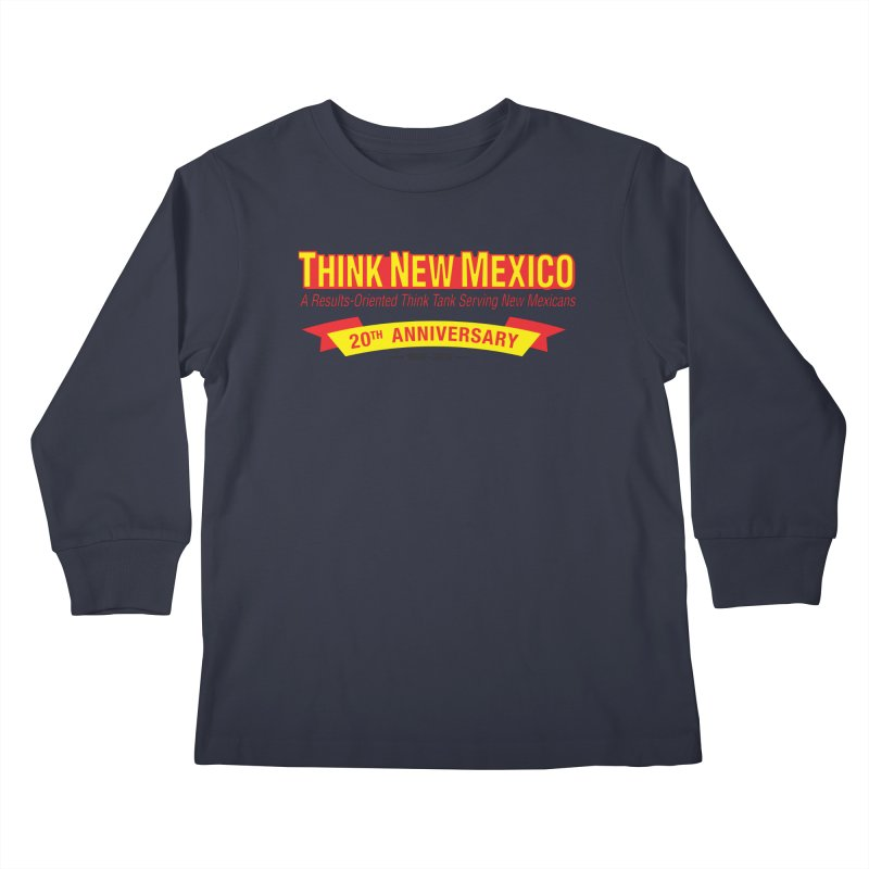 20th Anniversary Yellow No State Kids Longsleeve T-Shirt by Think New Mexico's Artist Shop