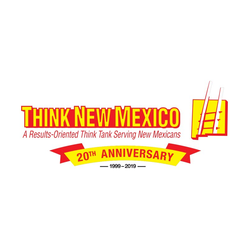 20th Anniversary Yellow Centered Banner Accessories Bag by Think New Mexico's Artist Shop