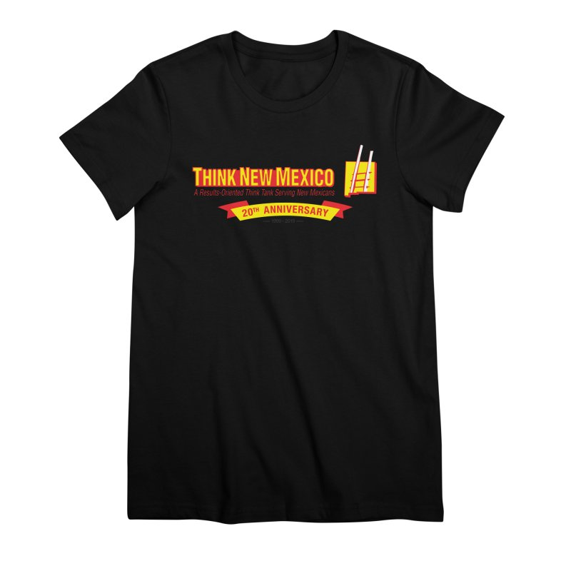 20th Anniversary Yellow Centered Banner Women's T-Shirt by Think New Mexico's Artist Shop