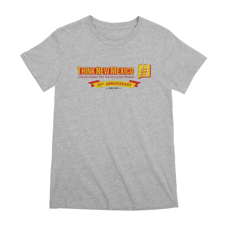 20th Anniversary Yellow Centered Banner Women's Premium T-Shirt by Think New Mexico's Artist Shop
