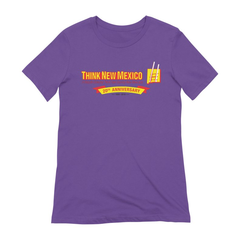 20th Anniversary Yellow Centered Banner Women's Extra Soft T-Shirt by Think New Mexico's Artist Shop