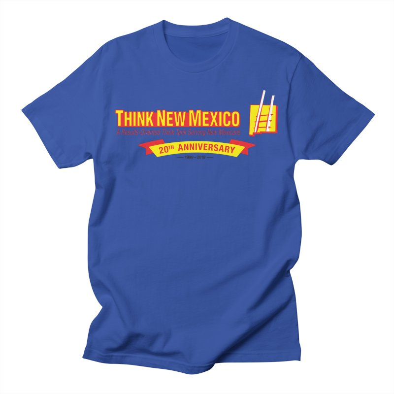 20th Anniversary Yellow Centered Banner Men's T-Shirt by Think New Mexico's Artist Shop