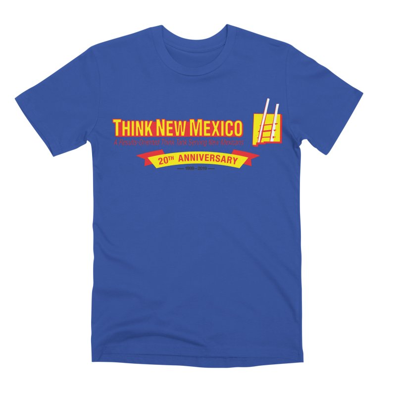 20th Anniversary Yellow Centered Banner Men's Premium T-Shirt by Think New Mexico's Artist Shop