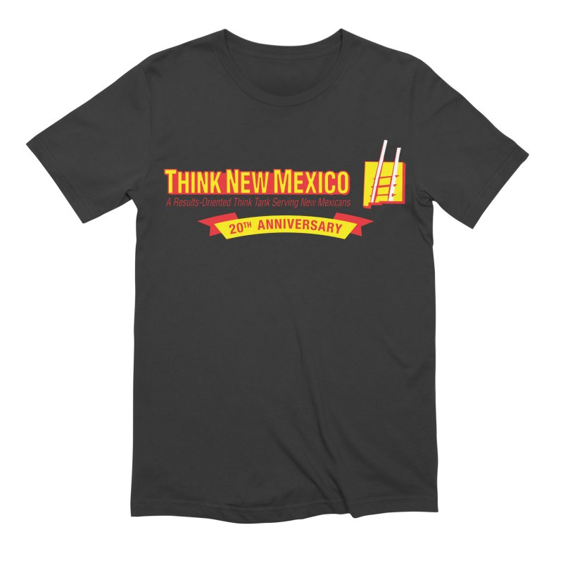 20th Anniversary Yellow Centered Banner Men's Extra Soft T-Shirt by Think New Mexico's Artist Shop