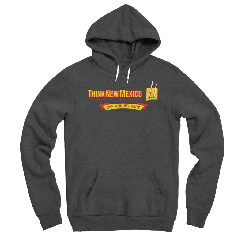 20th Anniversary Yellow Centered Banner Men's Pullover Hoody by Think New Mexico's Artist Shop