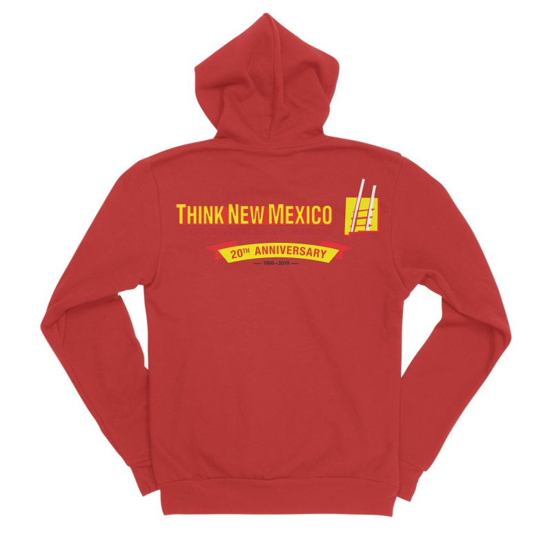 20th Anniversary Yellow Centered Banner Women's Sponge Fleece Zip-Up Hoody by Think New Mexico's Artist Shop