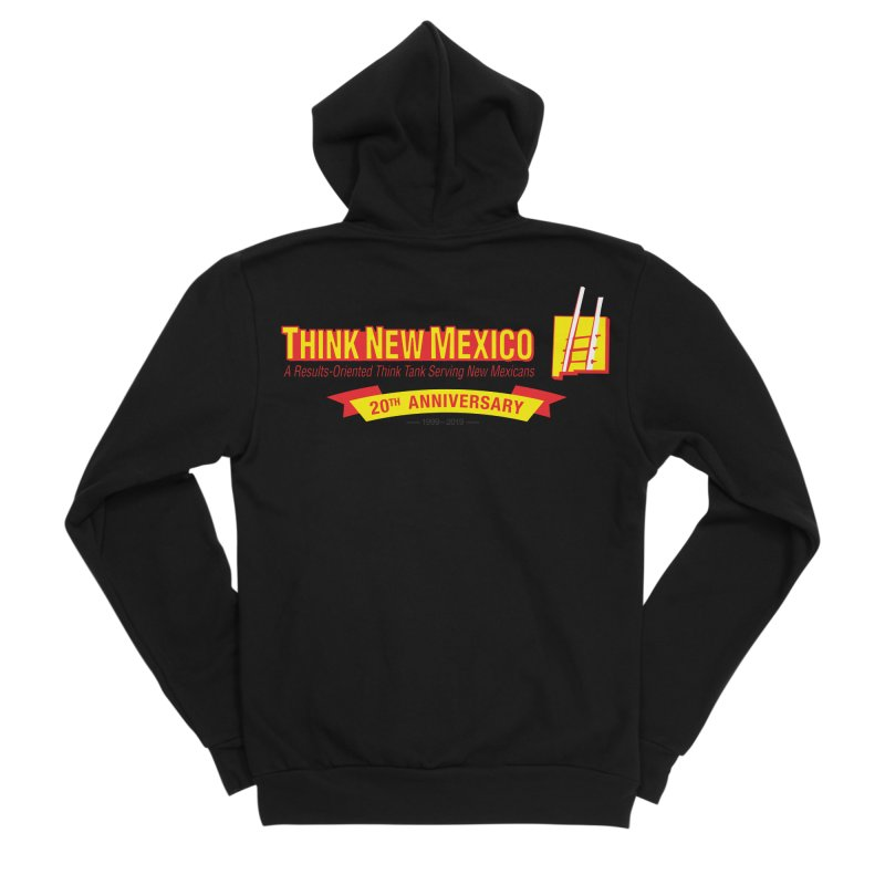 20th Anniversary Yellow Centered Banner Men's Sponge Fleece Zip-Up Hoody by Think New Mexico's Artist Shop