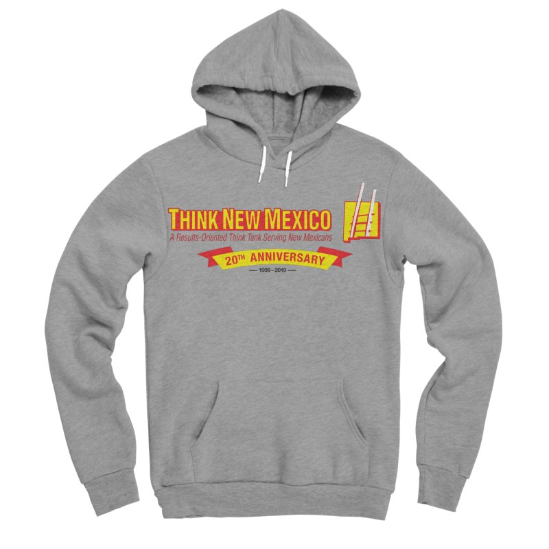20th Anniversary Yellow Centered Banner Men's Sponge Fleece Pullover Hoody by Think New Mexico's Artist Shop