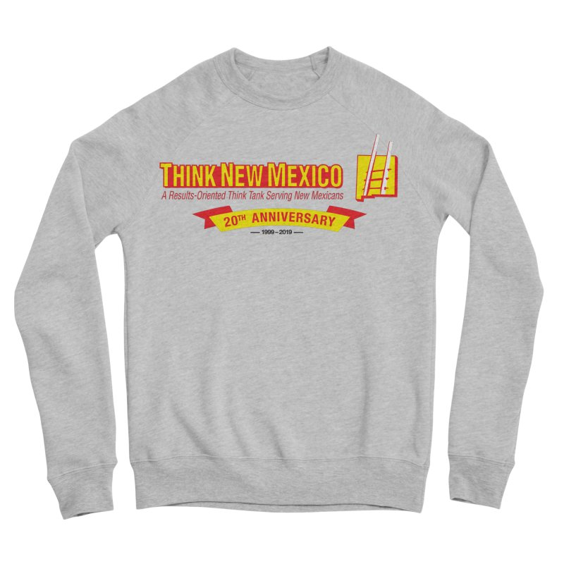 20th Anniversary Yellow Centered Banner Men's Sponge Fleece Sweatshirt by Think New Mexico's Artist Shop