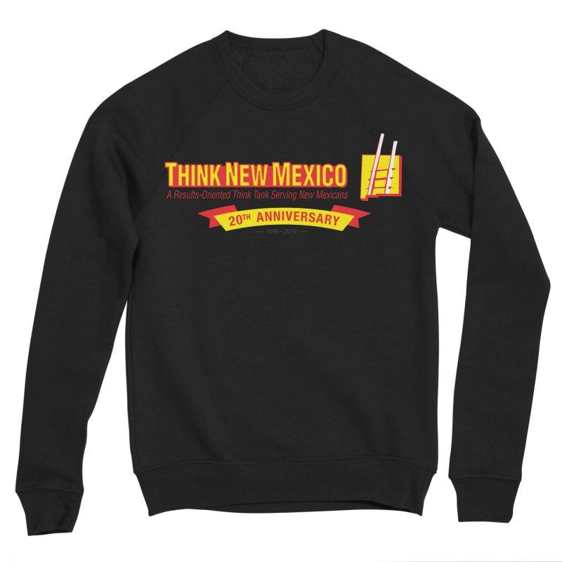 20th Anniversary Yellow Centered Banner Men's Sponge Fleece Sweatshirt by Think New Mexico's Artist Shop