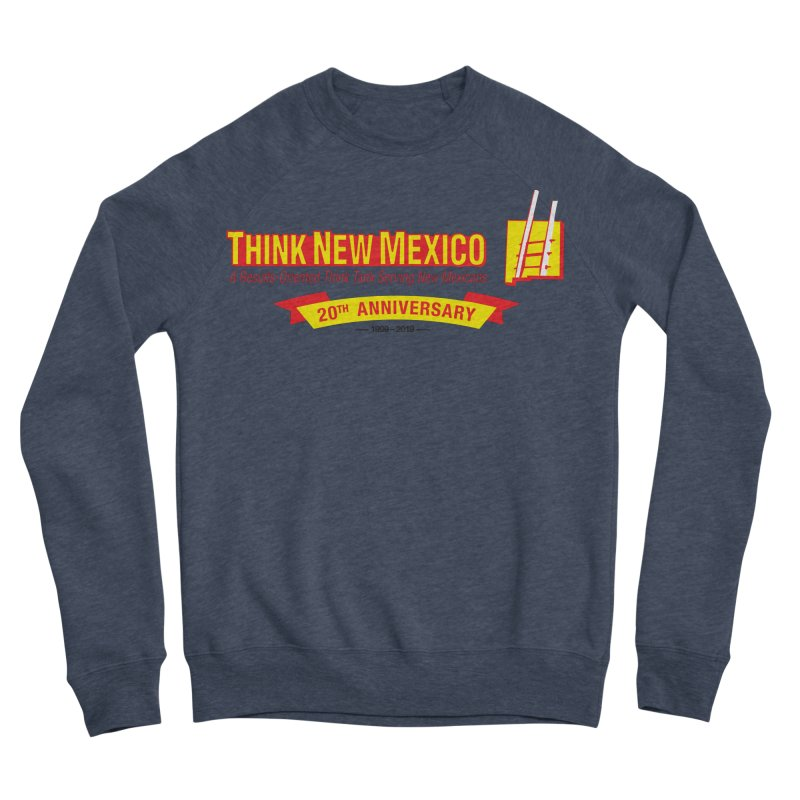20th Anniversary Yellow Centered Banner Women's Sponge Fleece Sweatshirt by Think New Mexico's Artist Shop