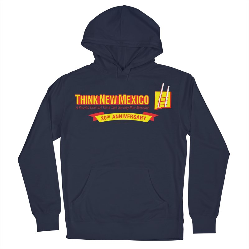 20th Anniversary Yellow Centered Banner Women's French Terry Pullover Hoody by Think New Mexico's Artist Shop