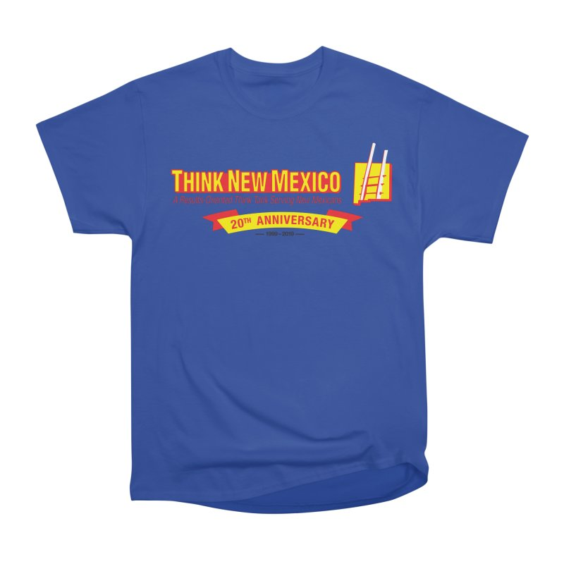 20th Anniversary Yellow Centered Banner Women's Heavyweight Unisex T-Shirt by Think New Mexico's Artist Shop