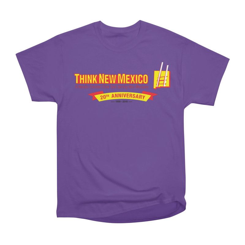 20th Anniversary Yellow Centered Banner Men's Heavyweight T-Shirt by Think New Mexico's Artist Shop