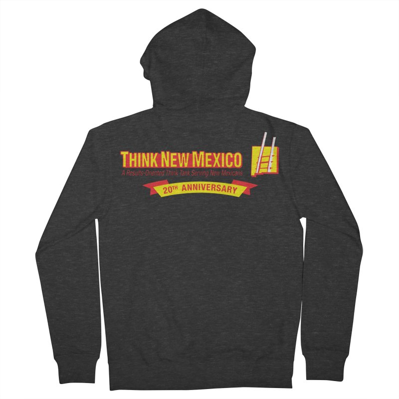 20th Anniversary Yellow Centered Banner Women's French Terry Zip-Up Hoody by Think New Mexico's Artist Shop