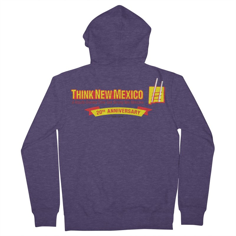 20th Anniversary Yellow Centered Banner Men's French Terry Zip-Up Hoody by Think New Mexico's Artist Shop