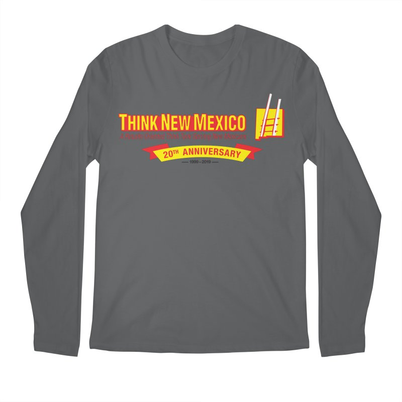 20th Anniversary Yellow Centered Banner Men's Longsleeve T-Shirt by Think New Mexico's Artist Shop