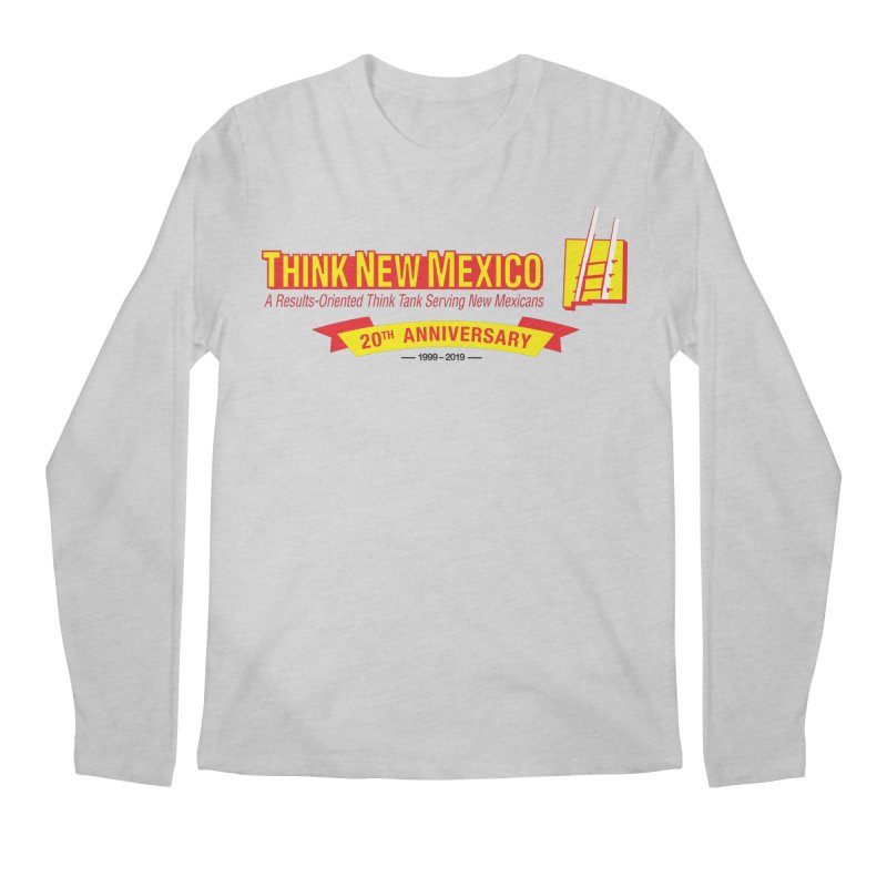 20th Anniversary Yellow Centered Banner Men's Regular Longsleeve T-Shirt by Think New Mexico's Artist Shop
