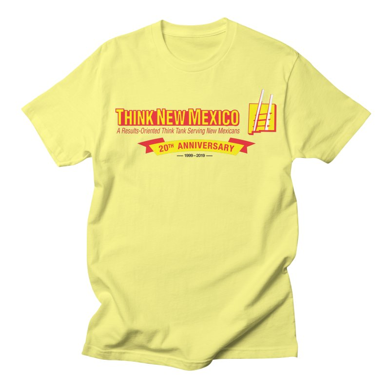 20th Anniversary Yellow Centered Banner Men's Regular T-Shirt by Think New Mexico's Artist Shop