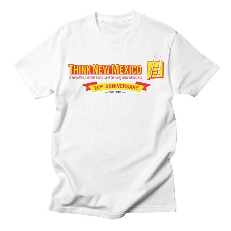 20th Anniversary Yellow Centered Banner Women's Regular Unisex T-Shirt by Think New Mexico's Artist Shop