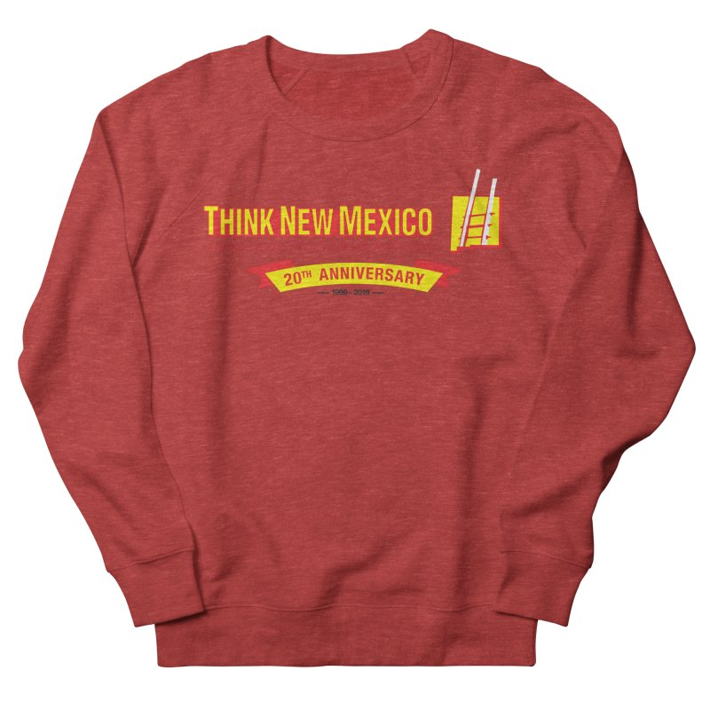 20th Anniversary Yellow Centered Banner Women's French Terry Sweatshirt by Think New Mexico's Artist Shop