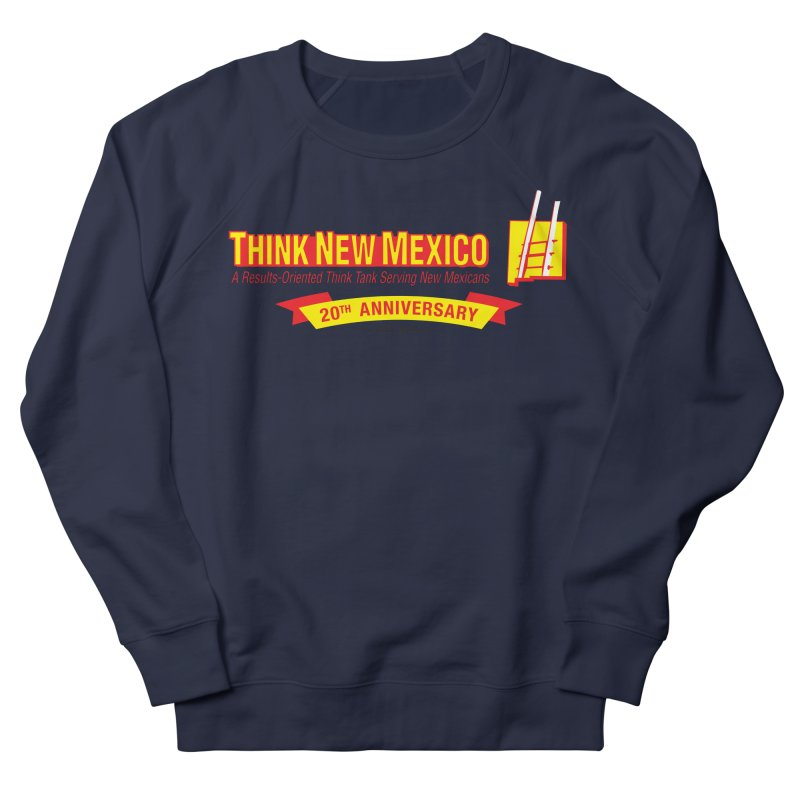 20th Anniversary Yellow Centered Banner Men's French Terry Sweatshirt by Think New Mexico's Artist Shop