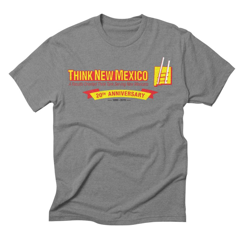 20th Anniversary Yellow Centered Banner Men's Triblend T-Shirt by Think New Mexico's Artist Shop