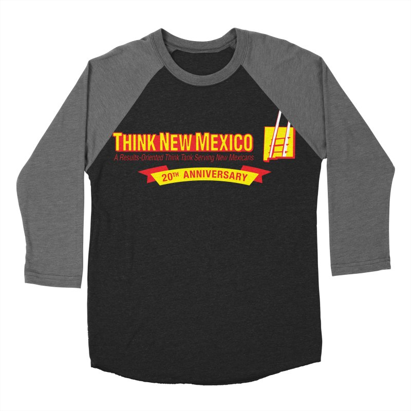 20th Anniversary Yellow Centered Banner Men's Baseball Triblend Longsleeve T-Shirt by Think New Mexico's Artist Shop