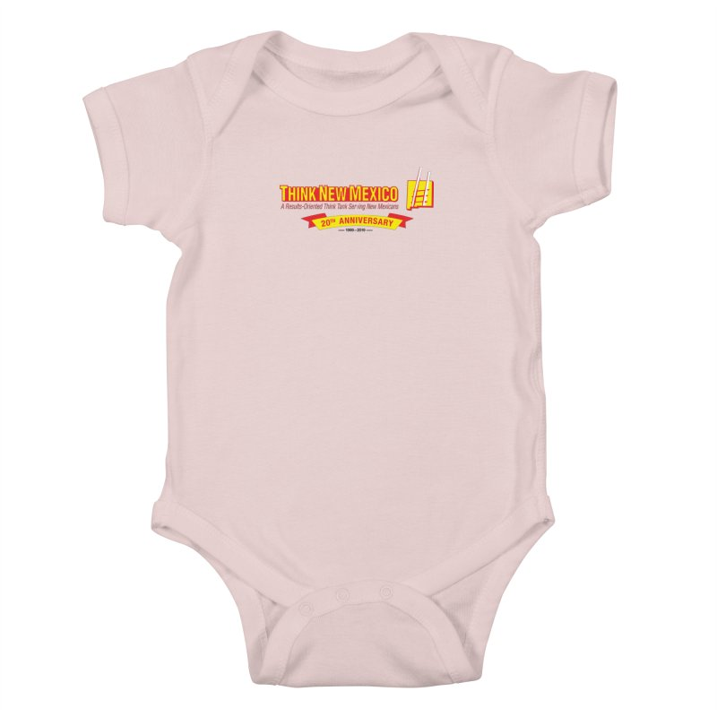 20th Anniversary Yellow Centered Banner Kids Baby Bodysuit by Think New Mexico's Artist Shop