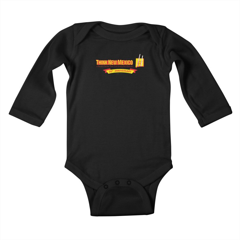 20th Anniversary Yellow Centered Banner Kids Baby Longsleeve Bodysuit by Think New Mexico's Artist Shop