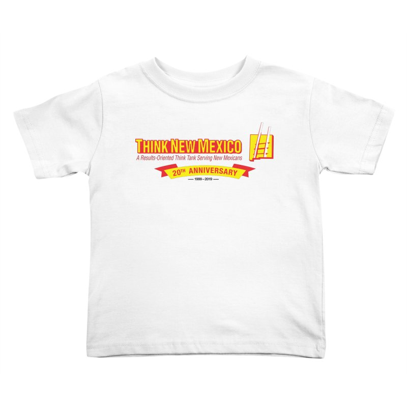 20th Anniversary Yellow Centered Banner Kids Toddler T-Shirt by Think New Mexico's Artist Shop